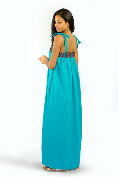 robe longue d'été guipure