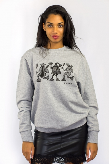 Grey unisex sweat Mileg