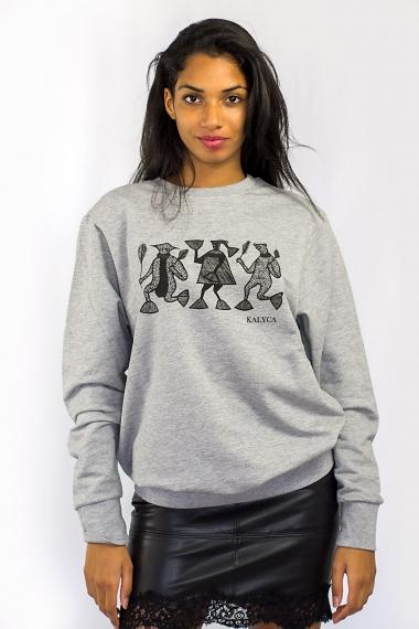 Grey unisex sweatshirt Mileg