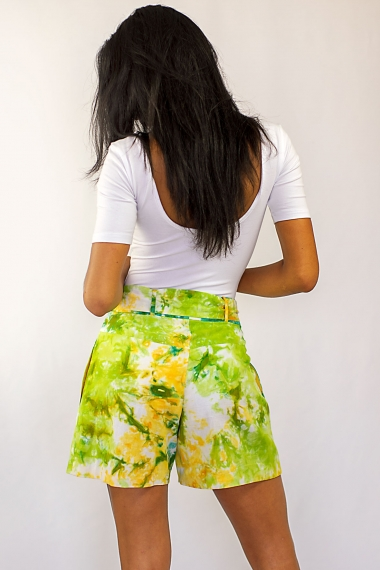 Yellow and green Yadi short
