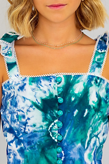 Top bleu tie and dye