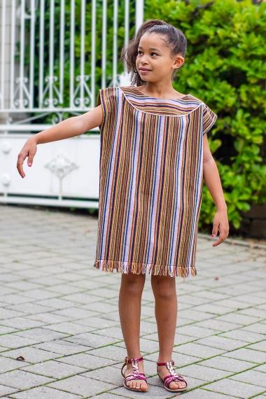 Caftan d'été fille en coton