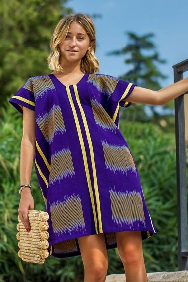 African violette short kaftan