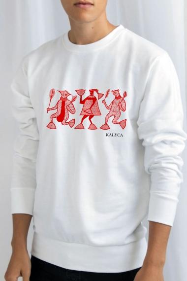 Sweatshirt Mileg blanc unisexe