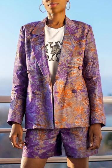 Blazer tie and dye