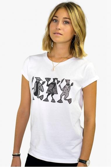 Tee-shirt Mileg imprimés noirs