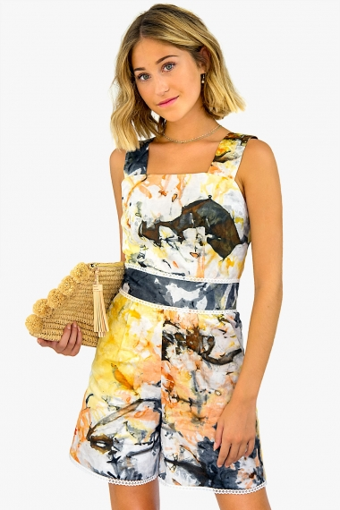 tie-dyed playsuit