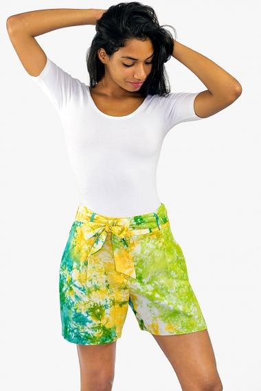 Short femme vert