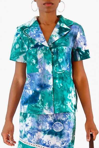 Chemise tie-dye en coton