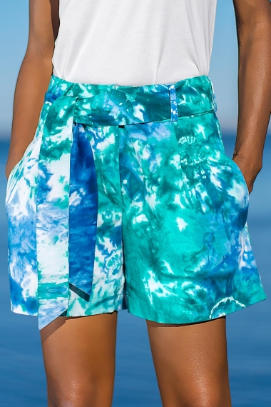 Blue and green Yadi short