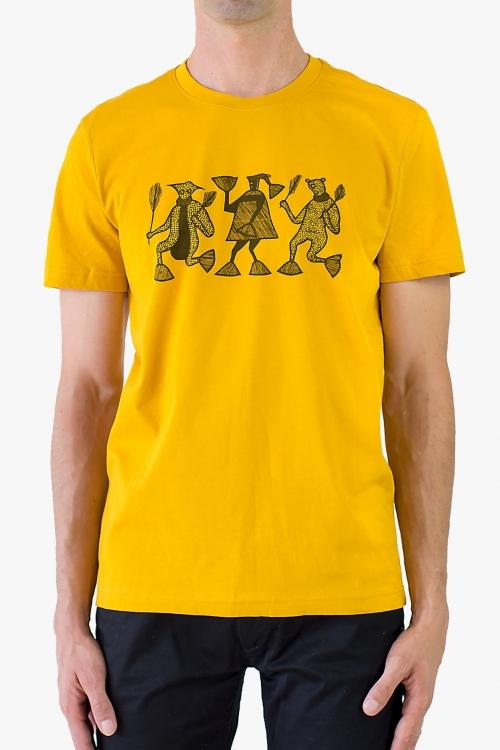 T-shirt ethnique en coton biologique
