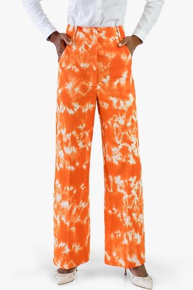Pantalon femme chic orange