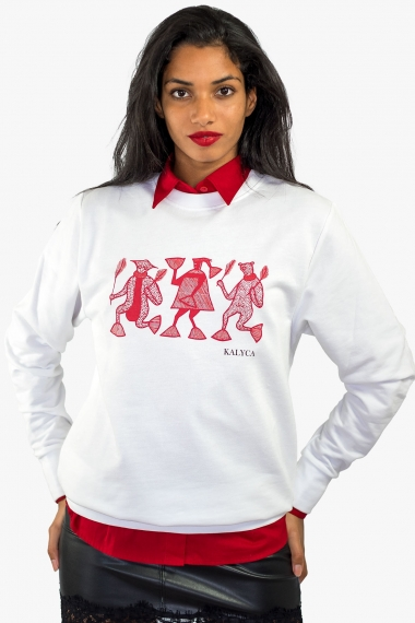 White unisex sweat Mileg